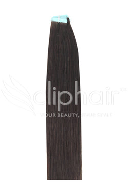 20 Inch Tape in Remy Human Hair Extension, Medium Brown #4