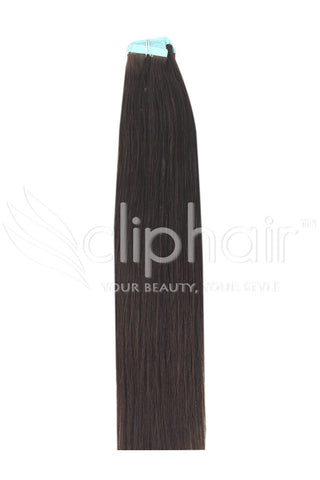16 Inch Tape in Remy Human Hair Extension, Medium Brown #4