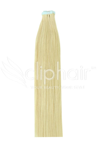16 Inch Tape in Remy Human Hair Extension, Bleach Blonde #613