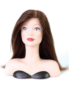 Human Hair Training Mannequin Head With Shoulders