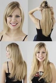 Top Hair European Silky Half head Clip In Extensions #12/27/613