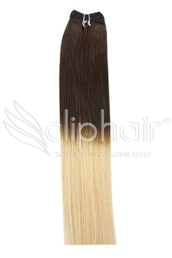 18 Inch Remy Human Hair Weft/Weave Extensions - Dip Dye (#T2/27)