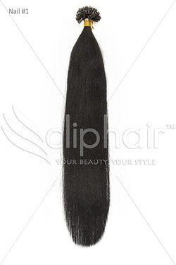 ClipHair Nail Tip / U-Tip Pre-bonded Remy Human Hair Extensions (50pcs)