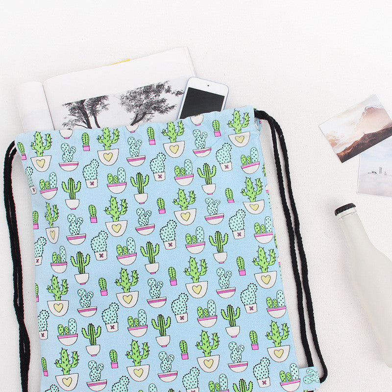 Cactus Canvas Handmade Bag