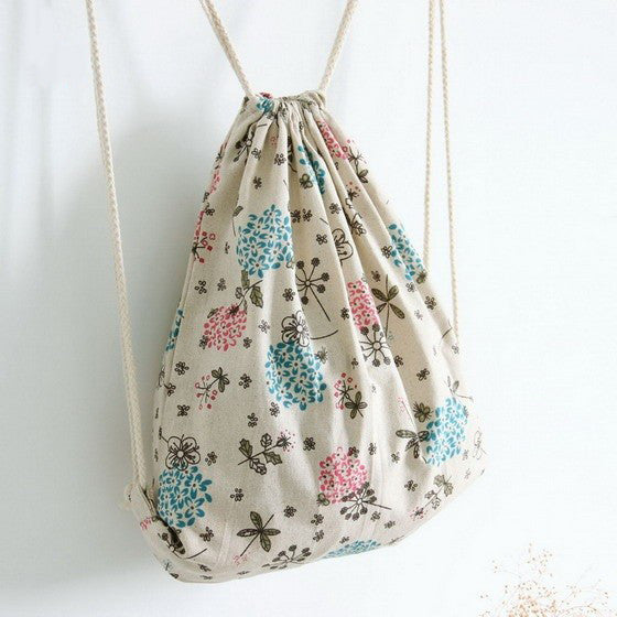 Vintage Flowers Canvas Bag
