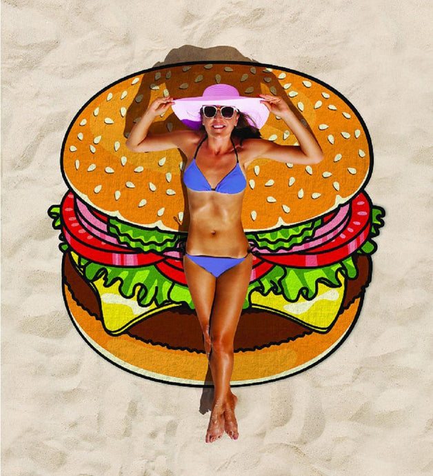 Hamburger Beach Towel