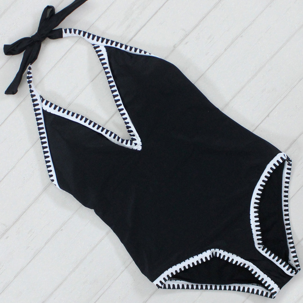 Black and White Moro Swimsuit