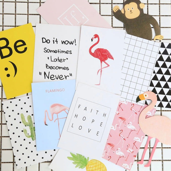 16pcs Cool Postcards