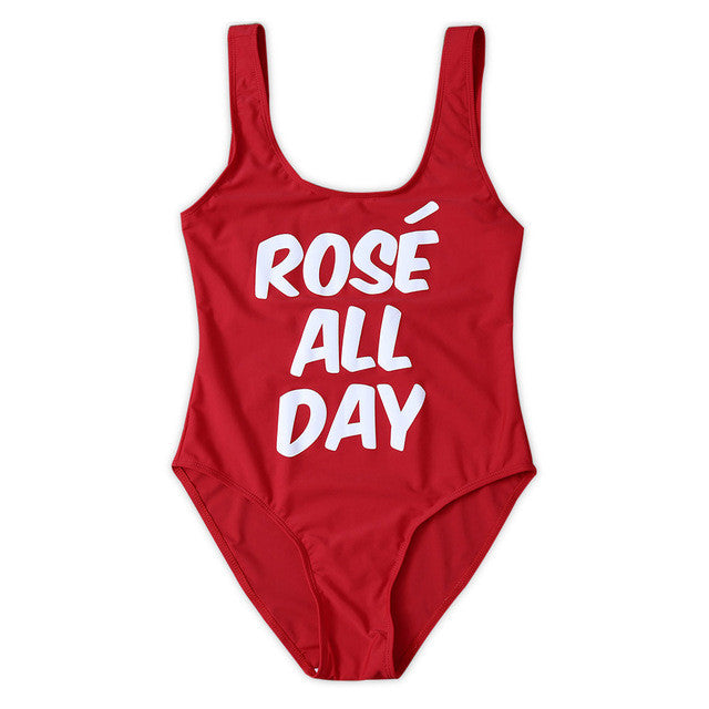 ROSE ALL DAY Red Swimsuit