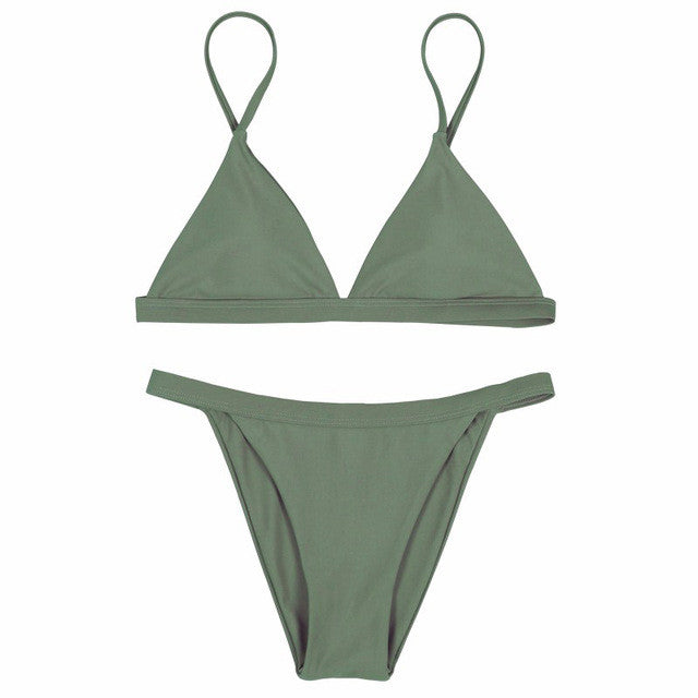 Army Green Zoe Bikini Set