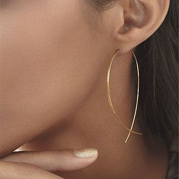 Gold pescado Stud Earrings