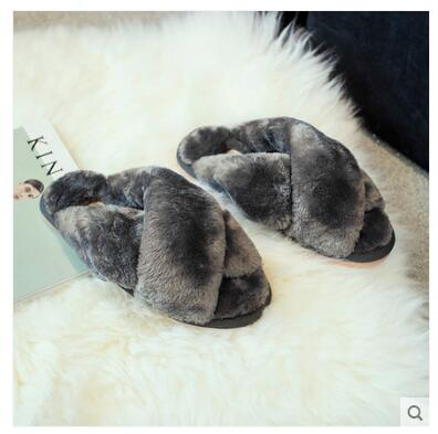 Gray ANINE Slippers
