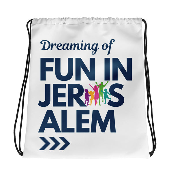 Fun In Jerusalem - Drawstring Bag