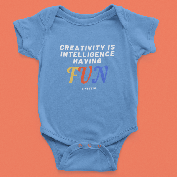 Creativity is intelligence Having Fun - Onesie (3-6 Months)