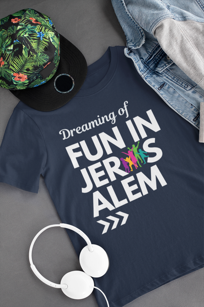 Fun In Jerusalem - Youth T-shirt (Navy)