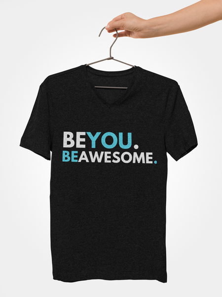 Be You. Be Awesome (DJ Raphi) - Unisex V-neck T-shirt