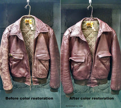 Recolor of leather bomber style leather jacket