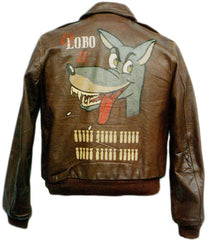 WWII leather bomber jacket art - visit http://www.milcentric.com/2012/12/13/wwii-a2-bomber-jacket-war-paint/