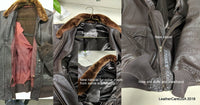 Leather flight jacket restoration, new lining, knit, zipper and collar by LeatherCareUSA