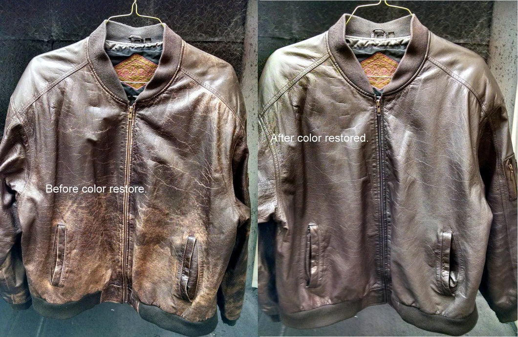 Leather jacket cleaning service