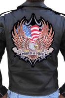LeatherCareUSA sews patches onto leather jackets, leather vest and leather chaps