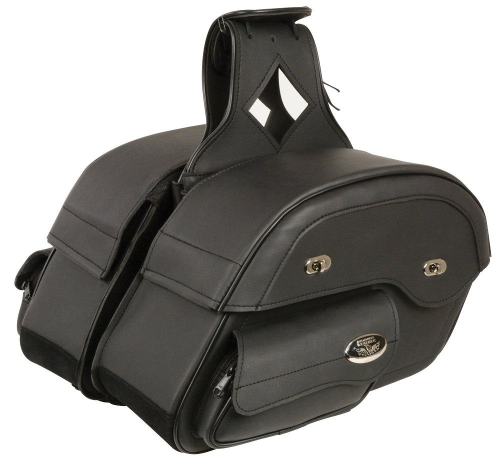 LeatherCareUSA cleans saddle bags, pictured: Milwaukee Leather Black Saddlebag MP8305 : Rural King