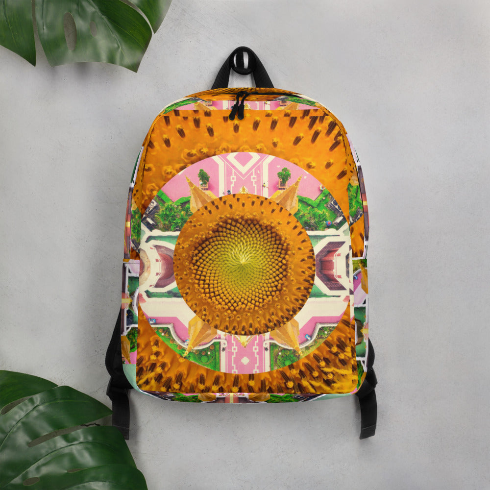 """Lucid Sunnflower"" Minimalist Backpack"