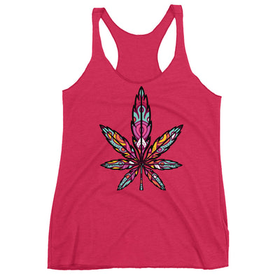 Bohemian Cannabis Leaf Tank Top Tee