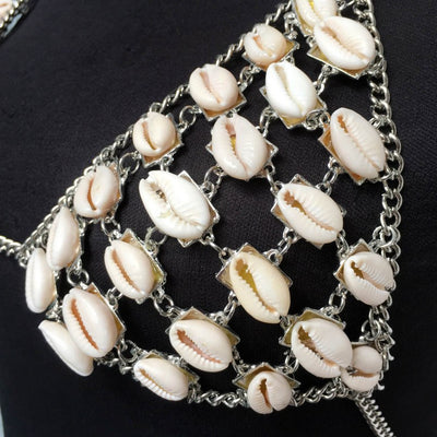Sensual Sea Shell Beach Necklace Bikini top