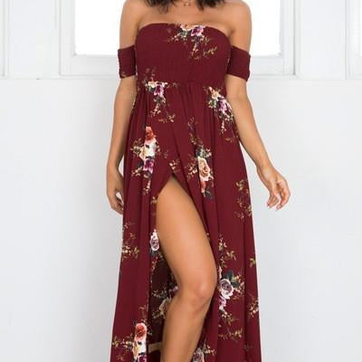 Boho Style Blooming Paradise Beach Dress