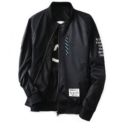 """Bliss Nirvana"" Mens Streetwear Bomber Jacket"