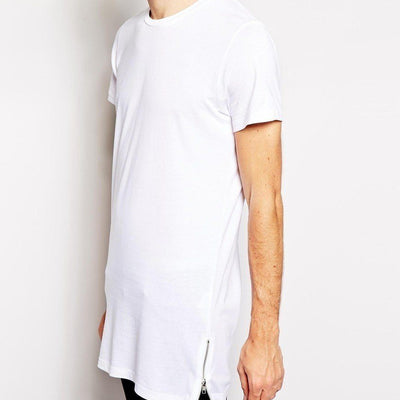Zipper Hemmed T Shirt