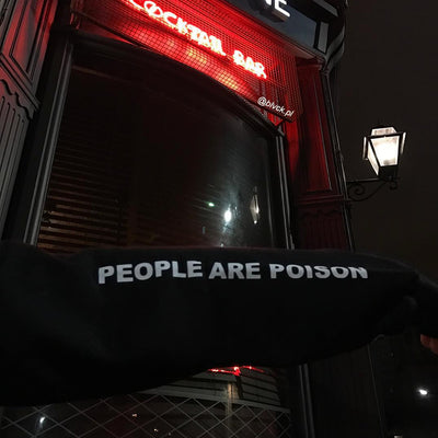 """People Are Poison"" Rose Hoodie Sweatshirt"