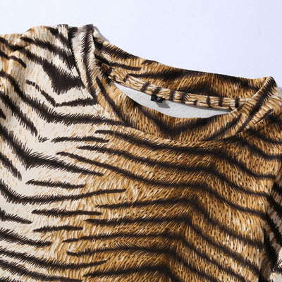Sublimation Leopard Print Mens T-Shirt
