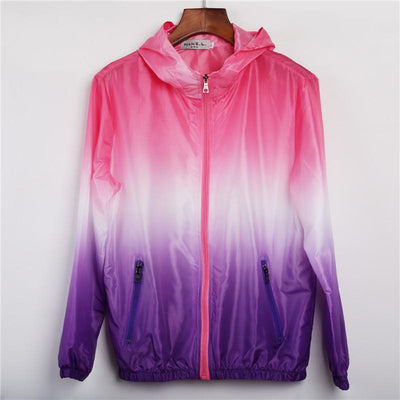 Neon Gradient Windbreaker