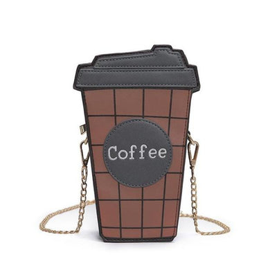 Personality 2D Coffee Cup Shoulder Bag
