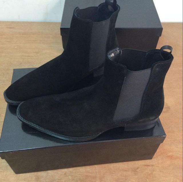 Mens Luxury High Cut Chelsea Boots