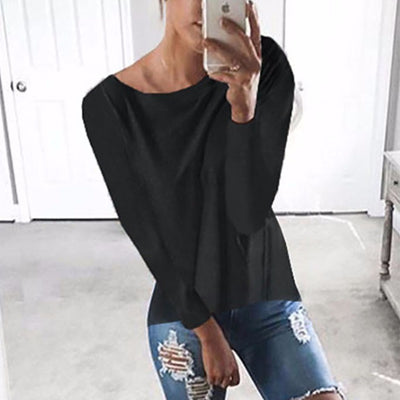 Womens Sexy Cross Patch Long Sleeve Shirt
