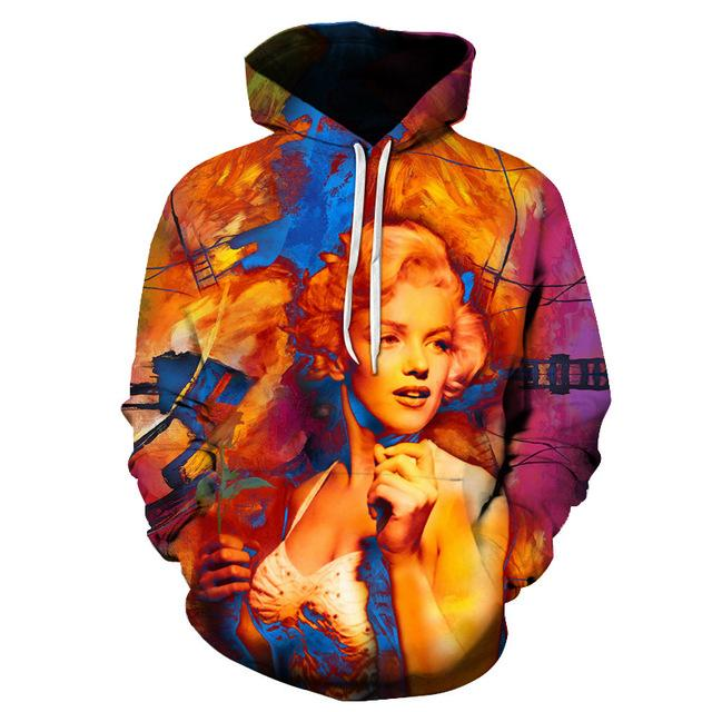 Sublimation Print Marilyn Monroe Hoodie