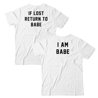 If Lost Return To Babe/ I Am Babe Couples T-Shirt Set
