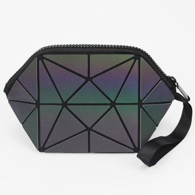 EQcreative Plus geometric holographic cosmetic bag
