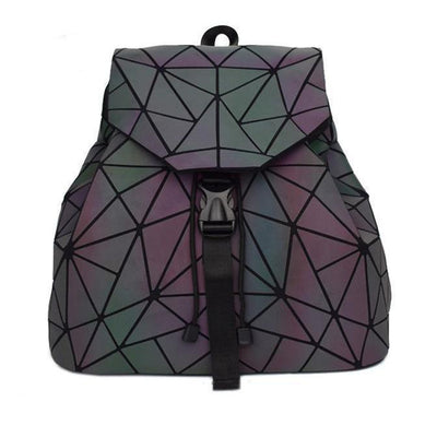 EQcreative Plus geometric luminous purses and shard lattice eco-friendly leather holographic shoulder bag