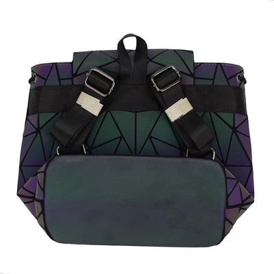 EQcreative Plus geometric reflective backpack bottom view
