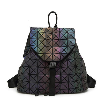 EQcreative Plus geometric luminous purses and handbags shard lattice eco-friendly leather holographic shoulder bag stock