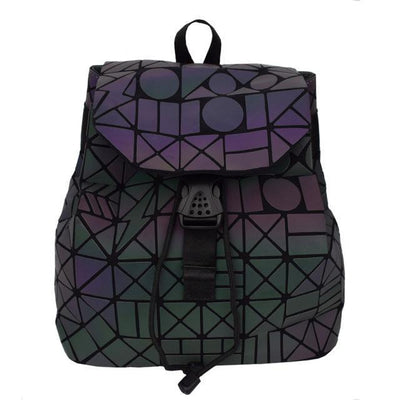 EQcreative Plus geometric reflective backpack stock photo