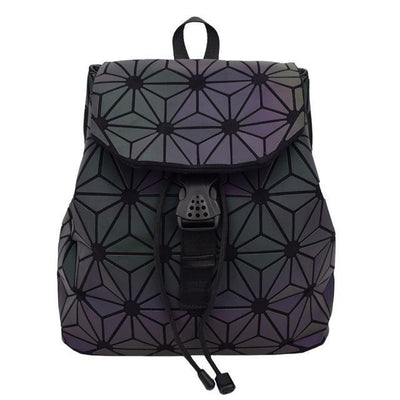geometric luminous purses and shard lattice eco-friendly leather holographic shoulder bag