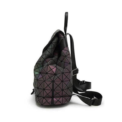 EQcreative Plus geometric reflective backpack sideview