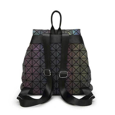 EQcreative Plus geometric reflective backpack backview