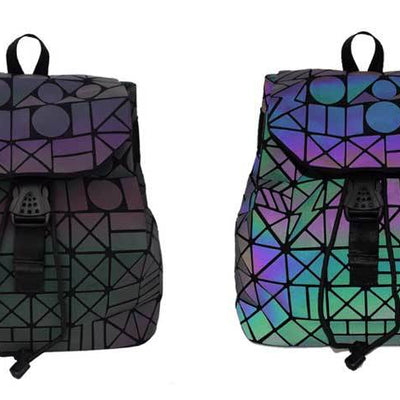 EQcreative Plus geometric reflective backpack