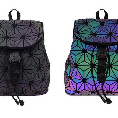geometric reflective backpack for sale